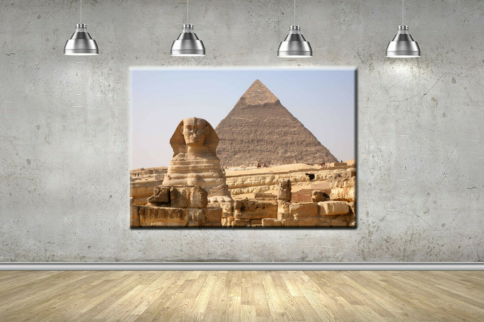 Egypt Pyramids Scenic Frame Canvas Photo Wall Art Picture Home Decor Poster