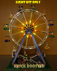 Battery Powered LED Light Kit for Lego 10247 Ferris Wheel with USB Power Cable
