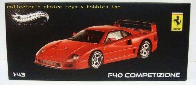 Mattel Hot Wheels Elite Ferrari F40 Competizione 1 43 Nuevo x5507