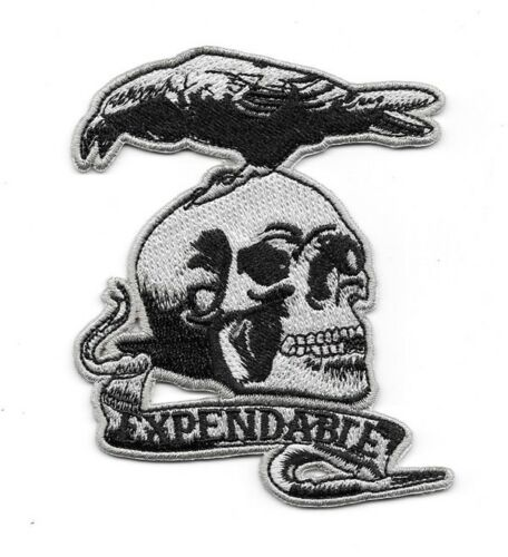 """The Expendables Movie Skull and Crow Team Logo 4/"""" Embroidered Patch"""