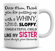 Favourite Child Pink, Brother Funny Coffee Mug Personalised Tea Mug Hilarious