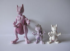 "Pokemon Tomy lot of 3 Mewtwo action figures toys keychains 4"" Japan"