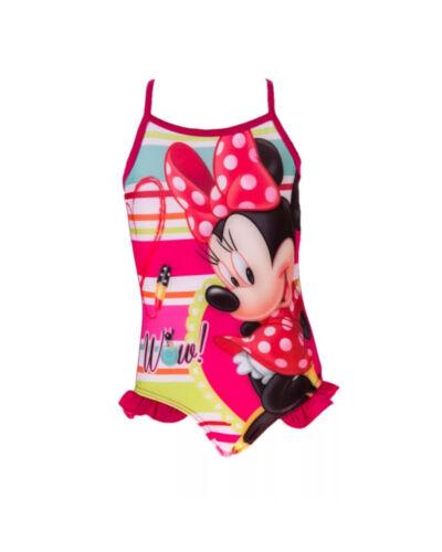 Badeanzug  Minnie Mouse Mädchen 2 Farben Pink Lila Gr 104-128 Neu