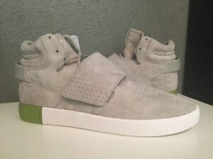 BB5040 Adidas Men s Tubular Invader Strap Shoes   Semi Solar Slime ... bc1ddfc87