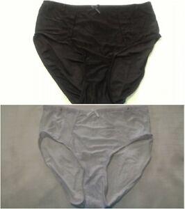 New-womens-panties-plus-size-3x-microfiber-choice-white-black-jacquard