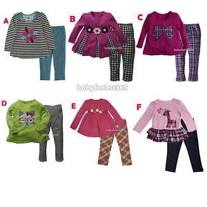New-Kid-Headquarters-Baby-Girls-Shirt-legging-Size-12-18-24-months-2T-3T-4T-5-6
