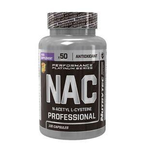 NAC N-ACETILCISTEINA 100caps 600mg  NUTRYTEC  antioxidantes inhibe la fatiga