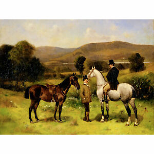 Leighton-Two-Horses-And-Riders-1883-Painting-Large-Wall-Art-Print-18X24-In