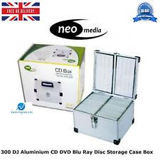 1 x 300 DJ Aluminium CD DVD Blu Ray Disc Storage Carry Case Box Numbered Sleeves