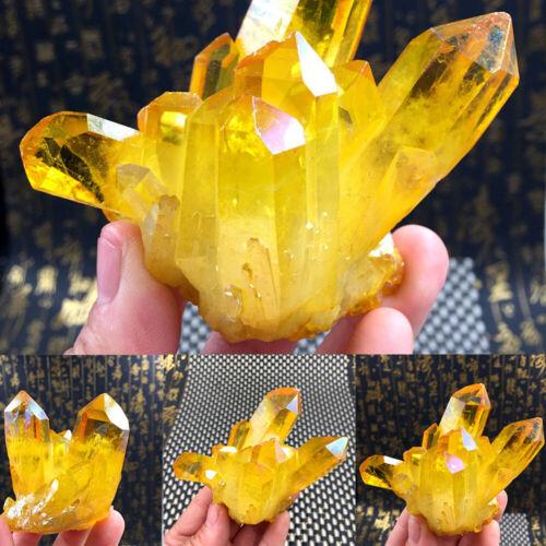Natural Yellow Crystal Quartz Citrine Cluster Mineral Specimen Healing DIY Decor