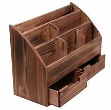 Executive Office Solutions Vintage Rustic Wooden Office Desk Organizer Amp Mail