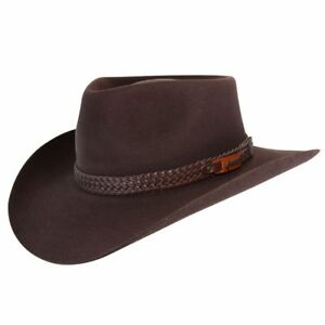 99b6836a92b Image is loading Akubra-Snowy-River-Hat-Rodeo-Brown