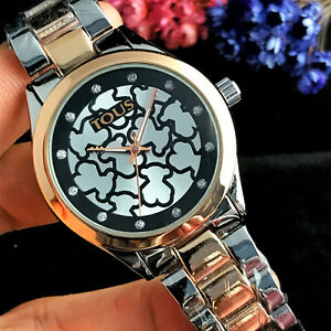 2018-New-Luxury-Women-039-s-Dress-Stainless-Steel-Quartz-WristWatch-Bear-Watch