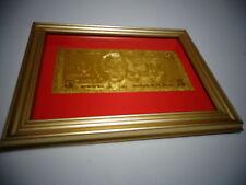 24 KARAT 99.9% GOLD USA 2009 $ 5 DOLLAR BILL -FRAMED - LIMITED PRODUCTION, RARE