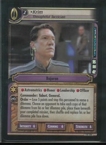 Star Trek CCG Reflections 2.0 FOIL Krim Thoughtful Tactician 4R104 NM//M