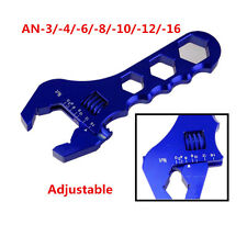 AN Adjustable Aluminum Blue Wrench Fitting Tools Spanner AN3 3-16AN Racing Trim