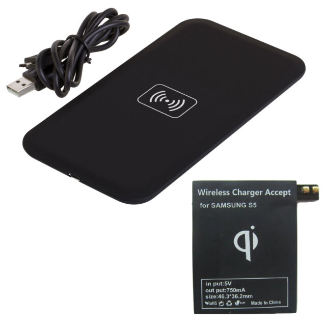 Qi Wireless Charger Pad + Receiver Kit for Samsung Galaxy S3 S4 S5 NOTE 2 3 USA