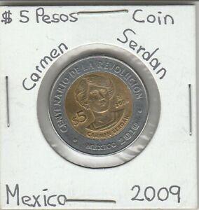 Mexico-5-Pesos-Coin-CARMEN-SERDAN-Year-2009