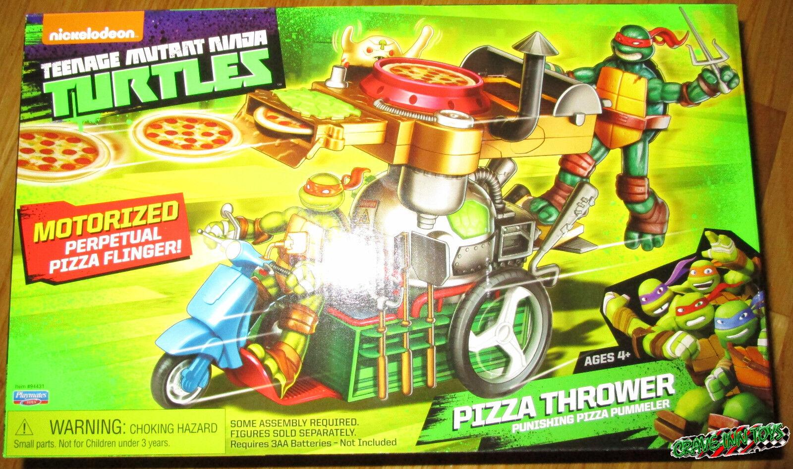 Teenage Mutant Ninja Turtles MOTORIZED PIZZA THROWER VEHICLE TMNT RAPH DON LEO