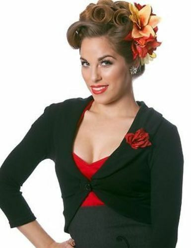 Steady Rose Rockeur Rockabilly Noir Up Chemise Marilyn Punk Pin Pull Gothique rCTq1Urf