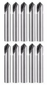 "10pcs 3/8"" 90° Degree HSSCo8 M42 Cobalt NC/CNC Spot Drill 0241L YG-1"