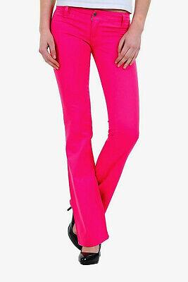 Buono Pantaloni Donna Jeans Sexy Woman B299 Rosa-fucsia Tg S M