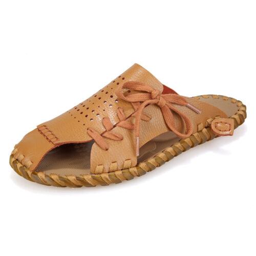Sandals Shoes Men Close Toe Roman Slipper Hollow Out Summer Fashion Leisure New