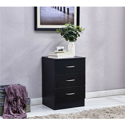 Bedroom Furniture Chest of Drawer Bedside Table Cabinet Nightstand with 3 Drawer