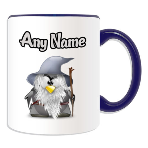 Personalised Gift Gandalf Penguin Mug Money Box Cup Movie Hero Hobbit Lord Rings