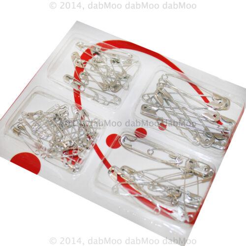 Seguridad De Metal Acero Plata Costura Cierre Pins Joyas Disfraz Craft Pins