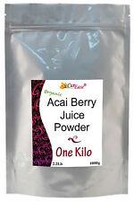 ORGANIC GMO FREE Pure Perfect Burn ACAI BERRY JUICE POWDER Bulk KILO 2+ Lb pound