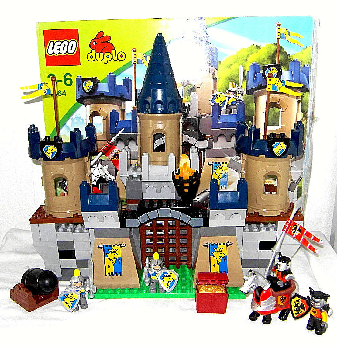 LEGO DUPLO ~ grande castello cavalieri ~ 4864 ~ torre di difesa cannone ~ ~ ~ cavalieri segreta ~ tesoro
