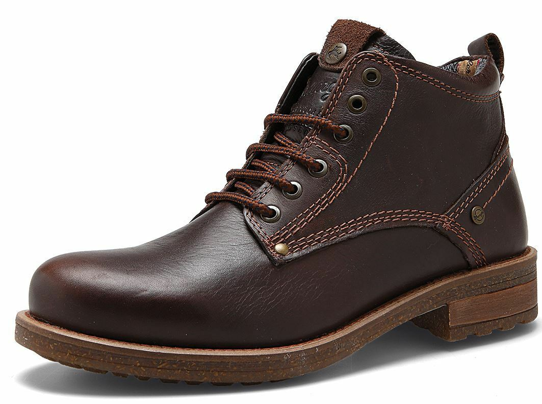 Wrangler Hill Leather Lace Brown Up Ankle Boots Dark Brown Lace Mens 1fc936