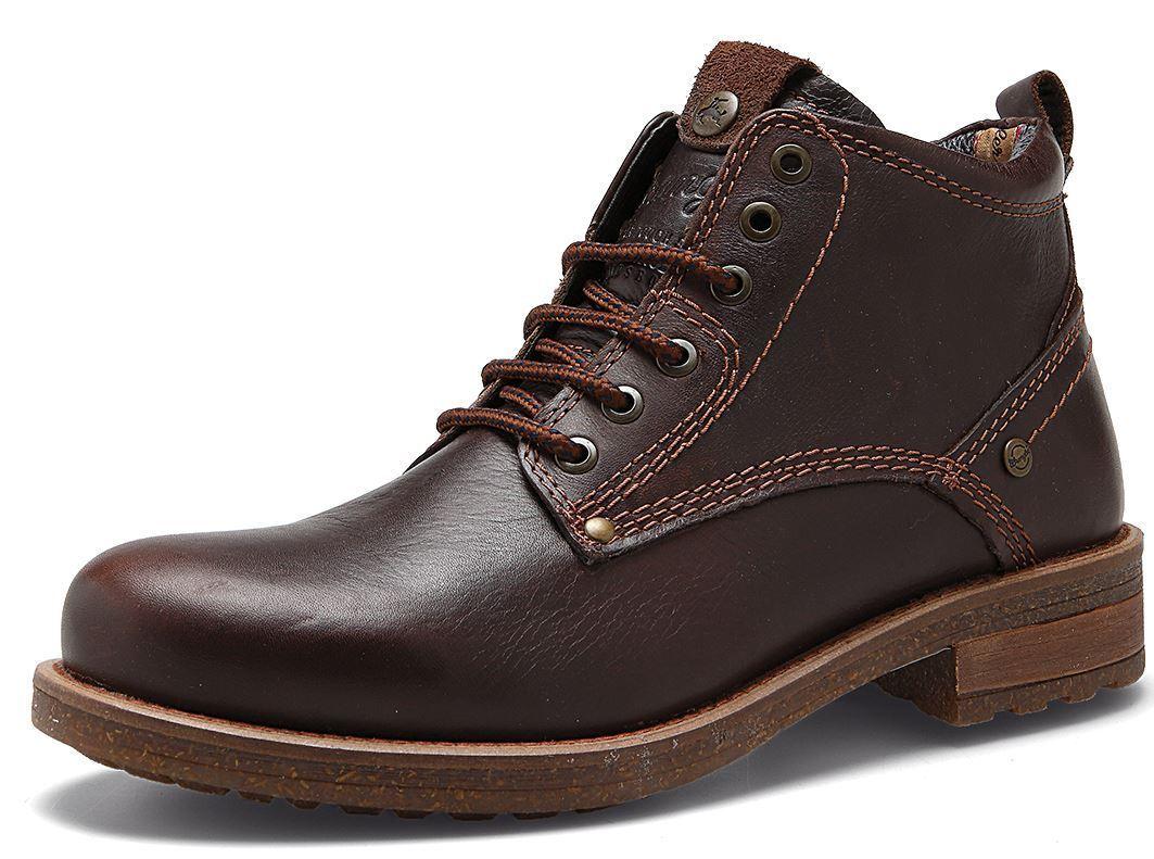 Wrangler Hill Leder Stiefel Lace Up Ankle Stiefel Leder Dark Braun  Herren 13ee53