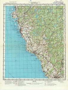 Russian Soviet Military Topographic Map Halmstad Sweden 1 200