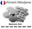 miniatuur 1 - Aimant Neodyme puissant épaisseur 2mm :  2X2 3X2 4X2 5X2 6X2 8X2 10X2