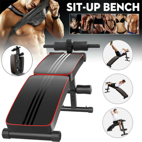 Folding Sit Up Bench Ab Crunch Exercise Board Decline Fitnes