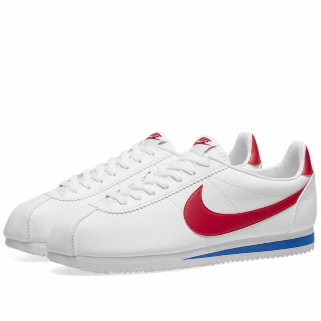 Mens Nike Classic Cortez Leather White/Red/Blue 749571 154 Size UK 7_8