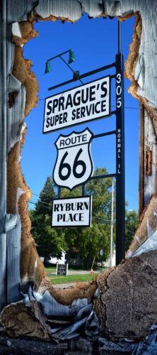 Türposter route 66 Self-Adhesive USA türtapete Holiday Plates Service 1770tp