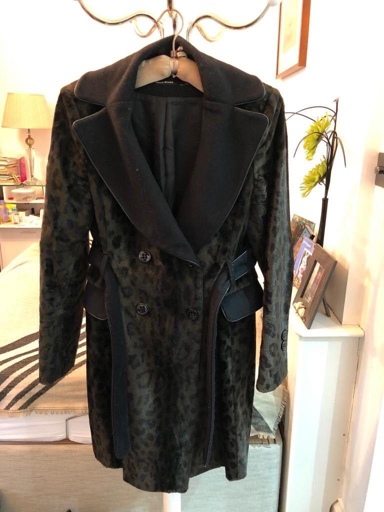 Karen Millen animal print coat, Size 16