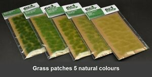 DioDump-DD011-L-6mm-realistic-grass-patches-VALUE-PACK-diorama-scenery