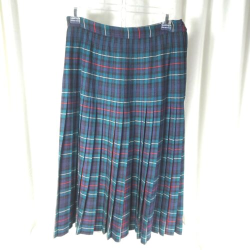 Aljean Womens Skirt Pleats Sz S/M Tartan Plaid 100