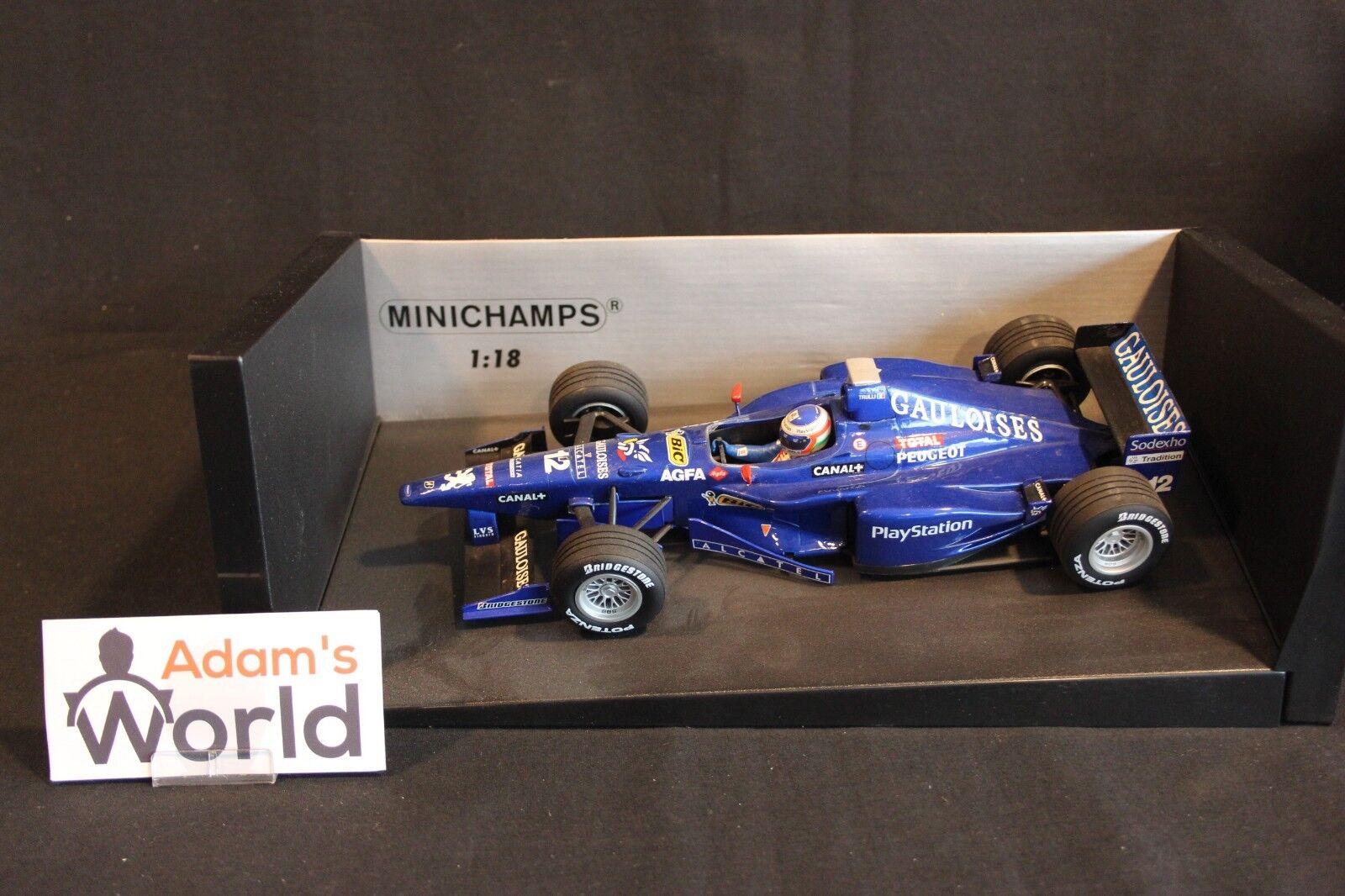 marcas de moda Minichamps Prost Peugeot AP01 1998 1 1 1 18  12 Jarno Trulli (ITA) (MM1) Gauloises  promociones de descuento