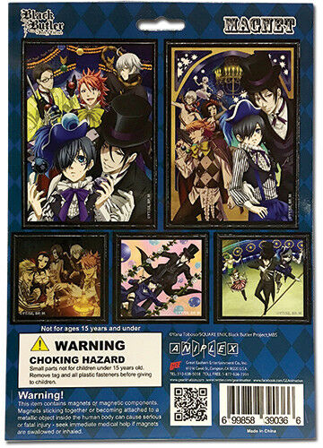 Black Butler Book of Circus Refrigerator Magnet Set Anime Manga NEW