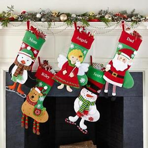 6c48807bc58 Image is loading Personalized-name-3D-Christmas-stockings-holiday-decoration -gift-