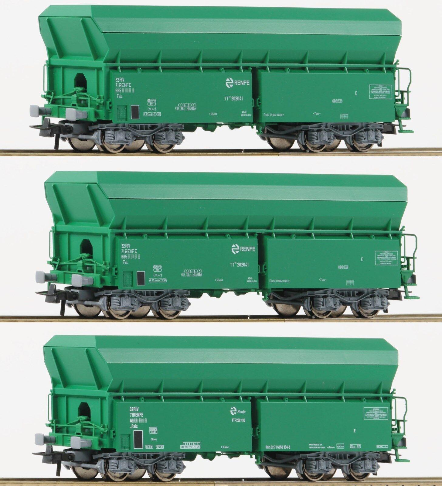HO - Roco - .67080 - Set de tres vagones de autodescarga, RENFE