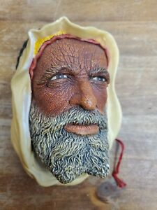 Bossons Chalkware Head Syrian Congleton Made In England