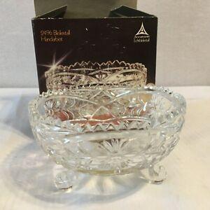 Anna-Hutte-EchtBleikristal-Lead-Crystal-Glass-Footed-Candy-Trinket-Bowl-Dish