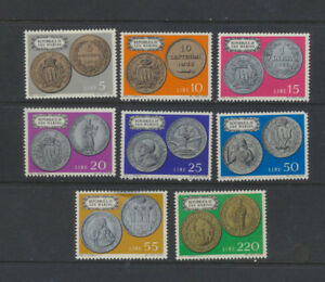 ANCIENT-ROMAN-COINS-on-San-Marino-1972-Mint-NH-Complete-Set-Scott-790-797