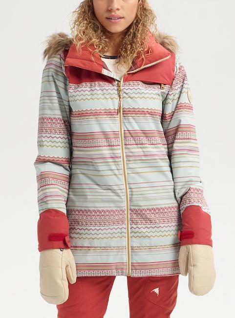 Brand New damen 2020 Burton Lelah Jacket Aqua grau Revel Stripe